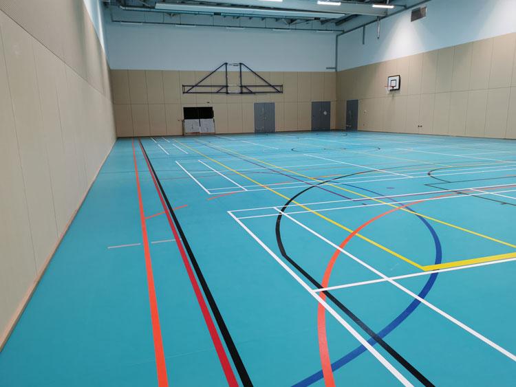 Harris Academy Wimbledon sports Floor by DYNAMIK