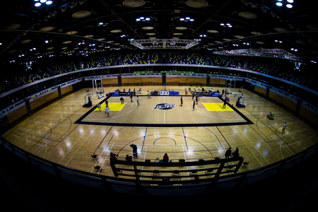 london lions rollout basketball court
