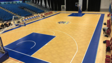 sheffield sharks portable rollout basketball court