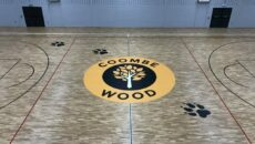 Coombe Wood bespoke court logo
