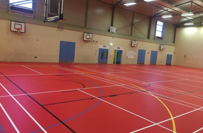 Crestwood School Red Floor