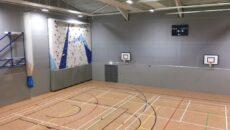 badminton school flexi-beam plus, netball court