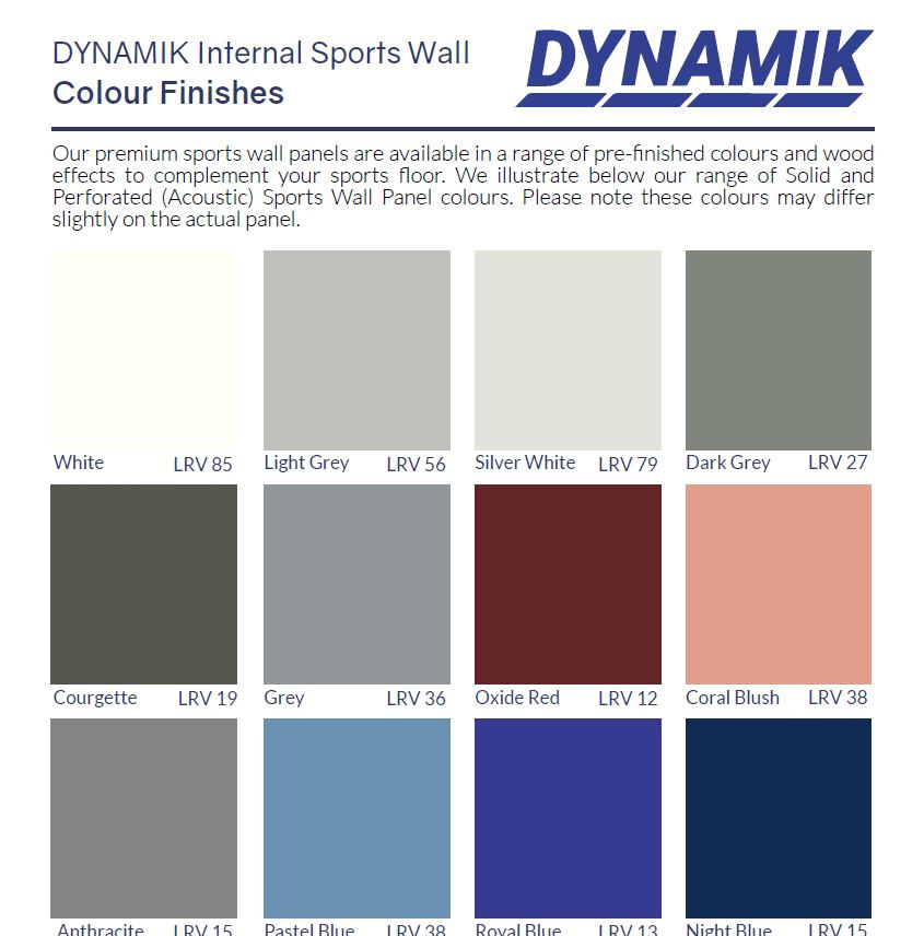 Wall Colour Chart