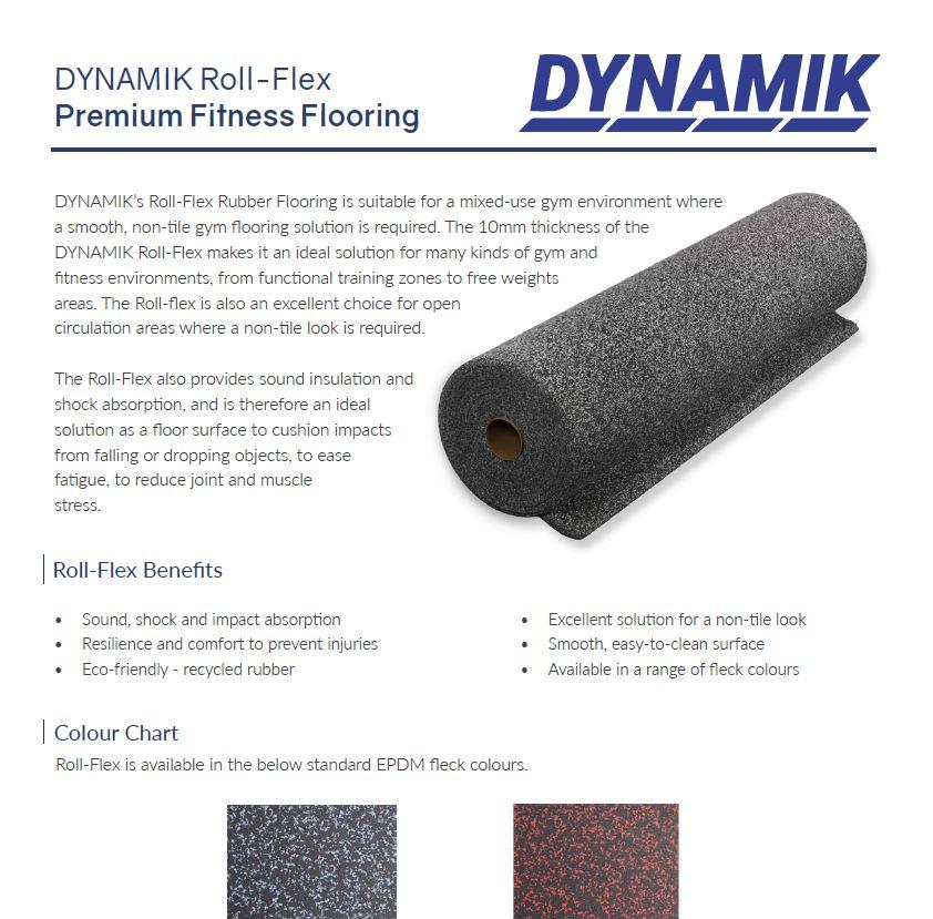 Roll-flex Rubber Gym Tile