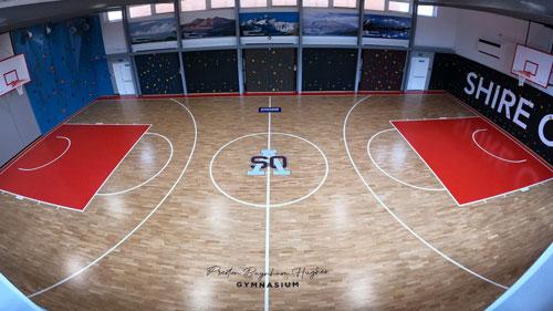 shire oak sports floor