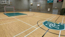 harris Academy school floor logo